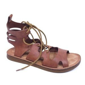 Dirty Laundry Brown Gladiator Sandals Size 7.5